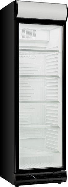 Glastür Kühlschrank D372 BL+WH schwarz / weiß