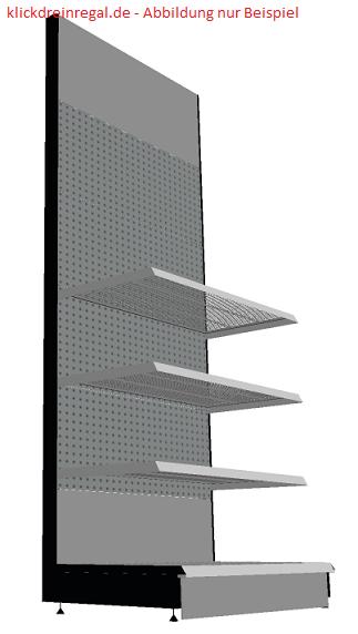 Wandregal - Grundregal Länge 125 cm, Höhe 260 cm, Tiefe 57 cm