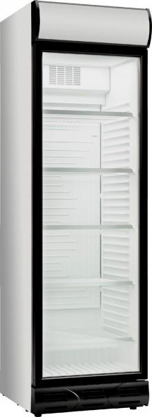 Glastür Kühlschrank D372 WH+WH weiß / weiß