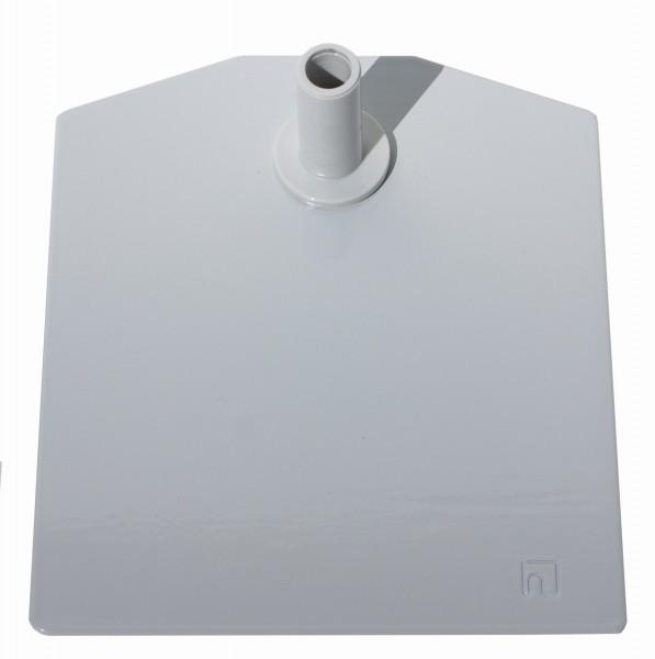 Metallbodenplatten für Plakatständer lichtgrau