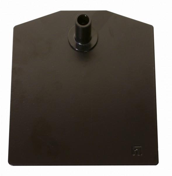 Metallbodenplatten für Plakatständer schwarz 10 Stück